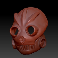 Small Graffiti Bot Helmet  ( Mad Max Looking Helmet ) 3D Printing 170523