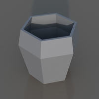 Small Diamond Geometric Vase 3D Printing 170541