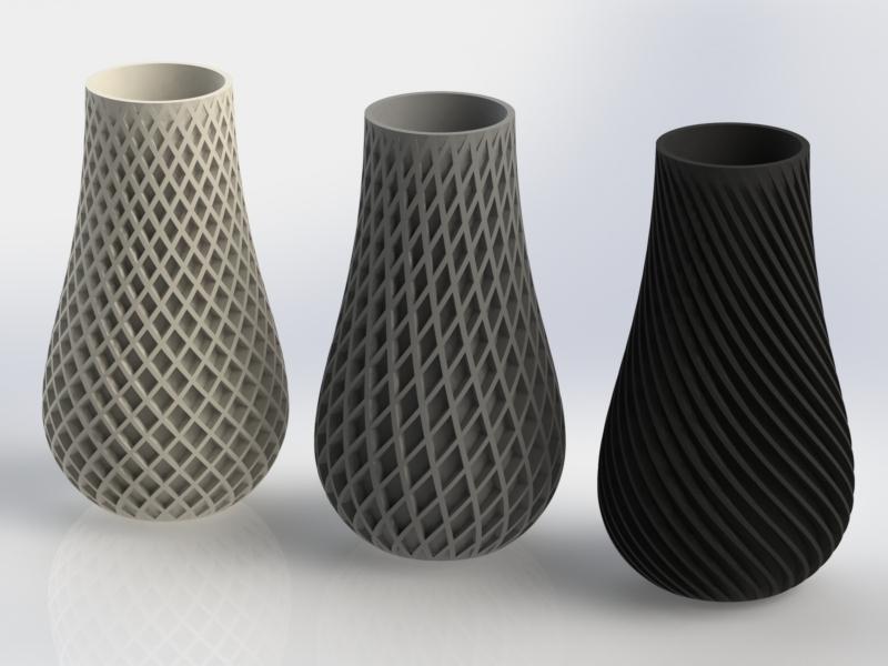 3d Printed Spiral Vase By Bigbadbison Pinshape