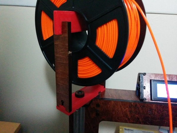 Medium Makerfarm Prusa i3v Spool Holder Extension 3D Printing 17068