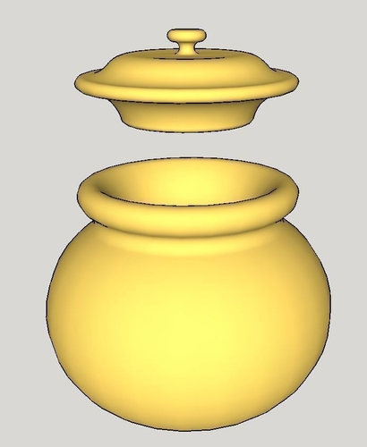 Small Pot with Lid 3D Print 170740