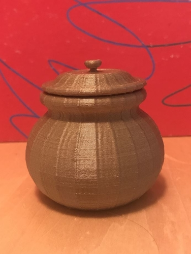Small Pot with Lid 3D Print 170742