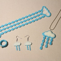Small Little drops of heaven jewelry set 3D Printing 17086