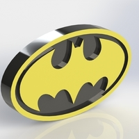 Small Batman Logo Plaque oval  3D Printing 171092