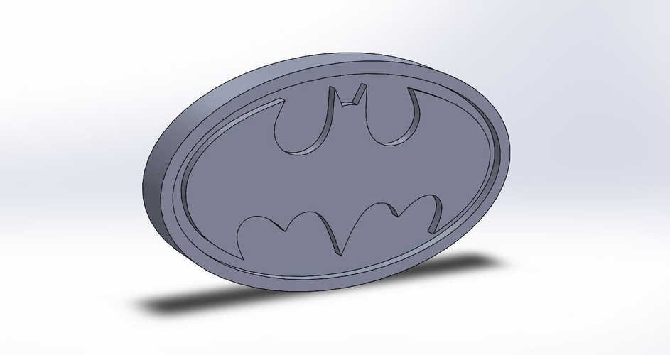 Batman Logo Plaque oval  3D Print 171093