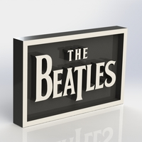 Small Beatles Logo Plaque Rectangle 3D Printing 171095