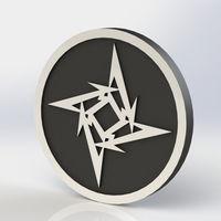 Small Metallica Logo Plaque Circle 3D Printing 171110