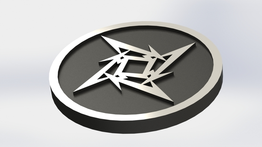 Metallica Logo Plaque Circle 3D Print 171112