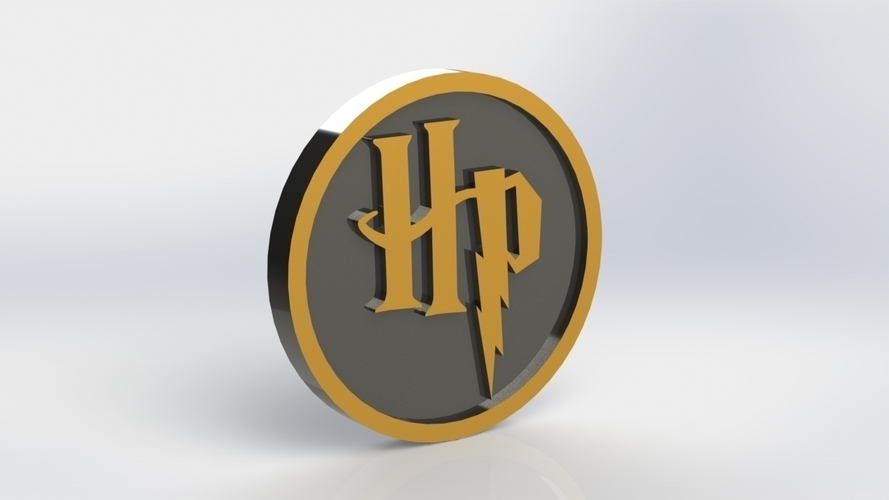 Harry Potter HP Logo Plaque Circle 3D Print 171119