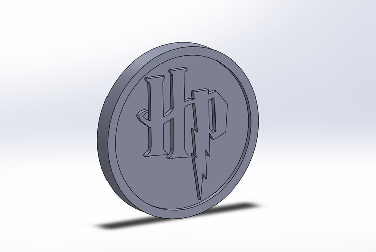 Harry Potter HP Logo Plaque Circle 3D Print 171120