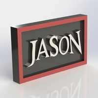 Small Jason Logo Plaque Rectangle 3D Printing 171121
