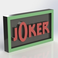 Small Joker Logo Plaque Rectangle 3D Printing 171124