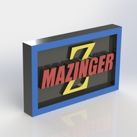 Small Mazinger Logo Plaque Rectangle 3D Printing 171130