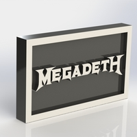 Small Megadeth Logo Plaque Rectangle 3D Printing 171133