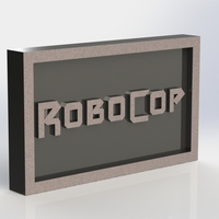 Small Robocop Logo Plaque Rectangle 3D Printing 171148