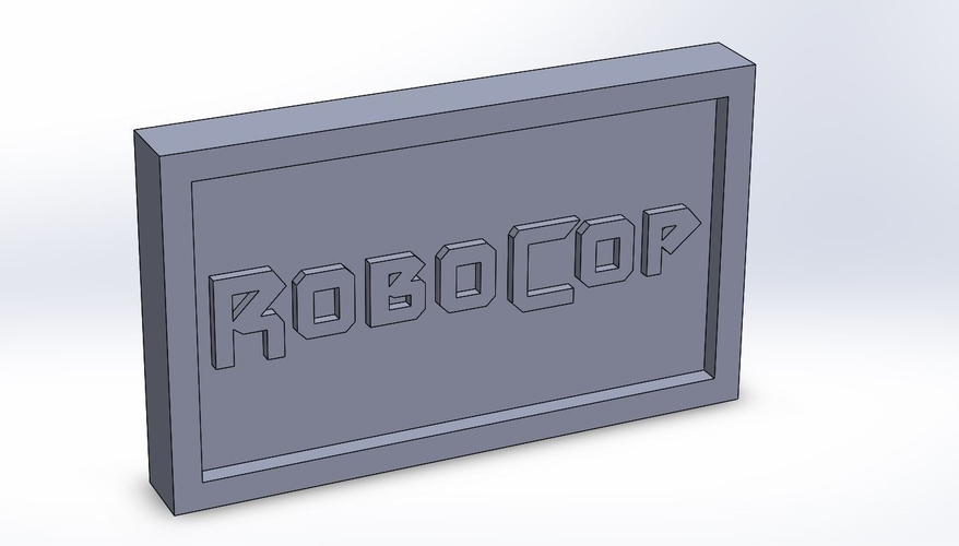 Robocop Logo Plaque Rectangle 3D Print 171149