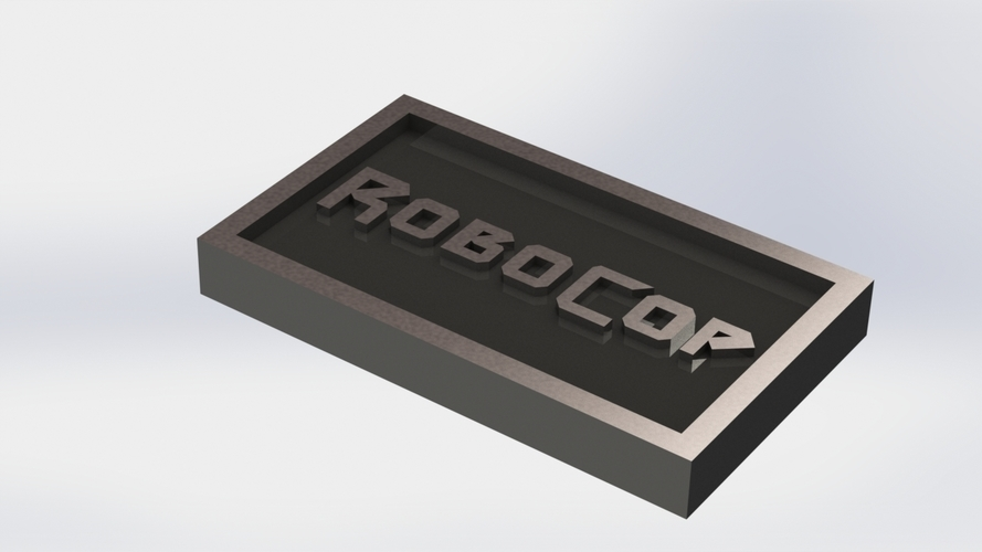 Robocop Logo Plaque Rectangle 3D Print 171150