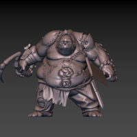 Small Pudge Butcher (hollow model) 3D Printing 171248