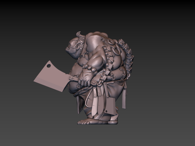 Pudge Butcher (hollow model) 3D Print 171249