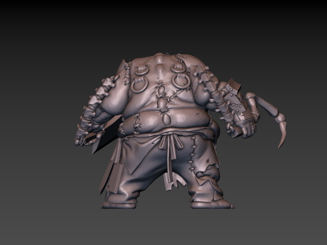 Pudge Butcher (hollow model) 3D Print 171250