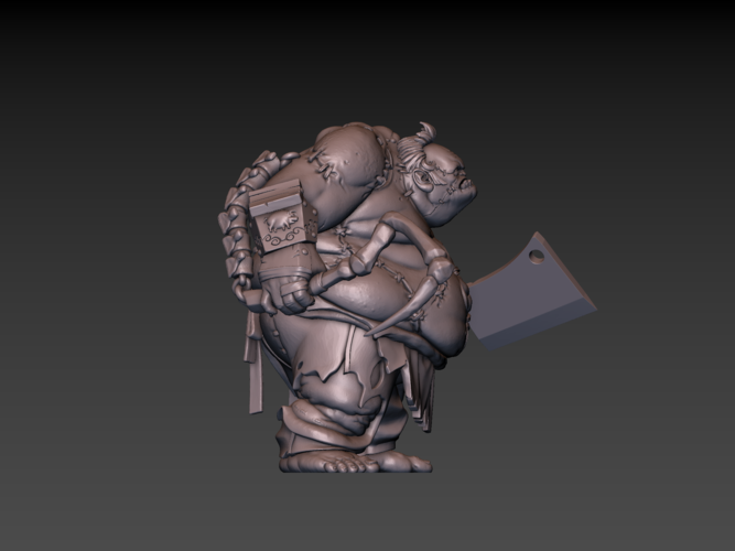 Pudge Butcher (hollow model) 3D Print 171251