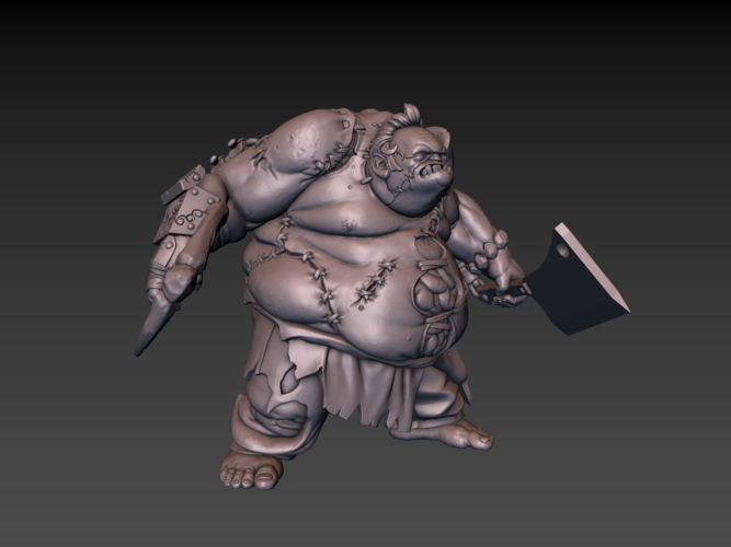 Pudge Butcher (hollow model) 3D Print 171255