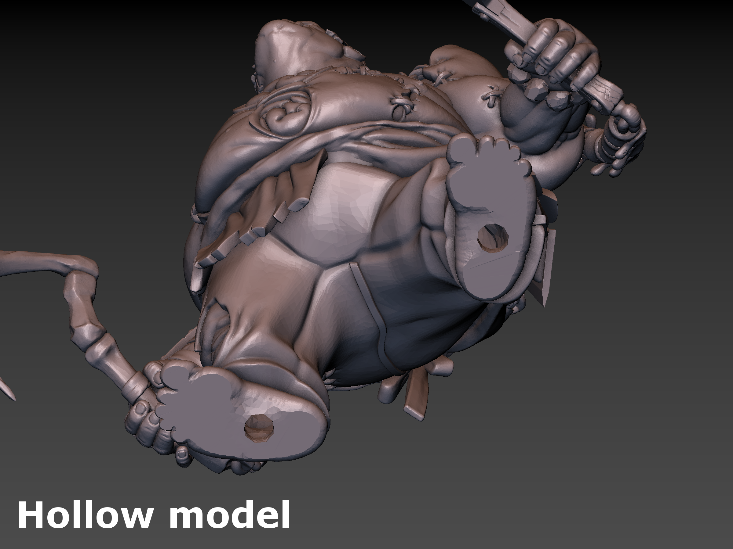 Pudge Butcher (hollow model) 3D Print 171266