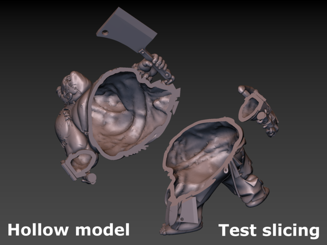 Pudge Butcher (hollow model) 3D Print 171268