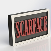 Small Scarface Logo Plaque Rectangle 3D Printing 171343