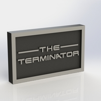 Small Terminator Logo Plaque Rectangle 3D Printing 171352