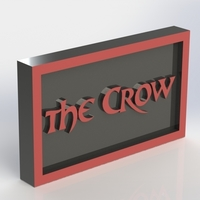 Small The Crow Logo Plaque Rectangle 3D Printing 171353