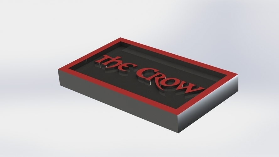 The Crow Logo Plaque Rectangle 3D Print 171355