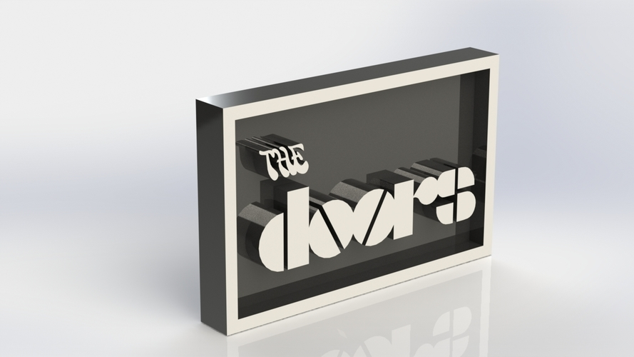 The Doors Logo Plaque Rectangle 3D Print 171356 & 3D Printed The Doors Logo Plaque Rectangle by Taiced3D | Pinshape