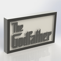 Small The Godfather Logo Plaque Rectangle 3D Printing 171359