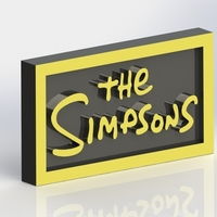 Small The Simpsons Logo Plaque Rectangle 3D Printing 171362