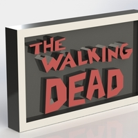 Small The Walking Dead Logo Plaque Rectangle 3D Printing 171367