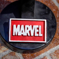 Small Marvel Logo Plaque Rectangle 3D Printing 171380