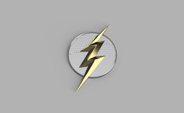 Medium The DCEU The Flash Chest Emblem *UPDATED* 3D Printing 171456