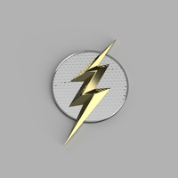 Small The DCEU The Flash Chest Emblem *UPDATED* 3D Printing 171456
