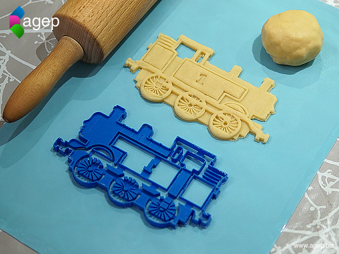 Detailed Thomas the Tank Engine Cookie Cutter 3D Print 171475
