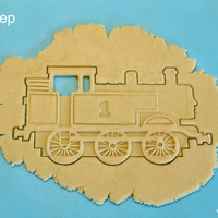 Small Detailed Thomas the Tank Engine Cookie Cutter 3D Printing 171476