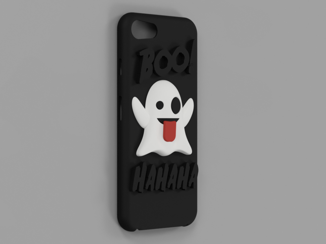 new concept 7d8b0 9d560 Emoji Ghost Halloween Edition iPhone 8 case