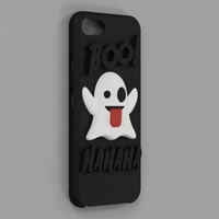 Small Emoji Ghost Halloween Edition iPhone 8 case 3D Printing 171481