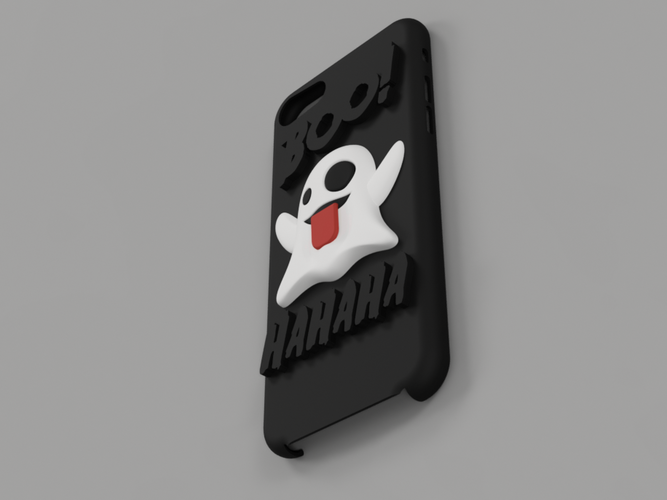 Emoji Ghost Halloween Edition iPhone 8 case 3D Print 171484