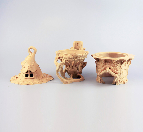 BIRDHOUSE - 3 PIECES 3D Print 171576