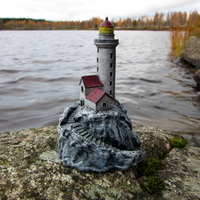 Small Lighthouse on a rock. 3D Printing 171593