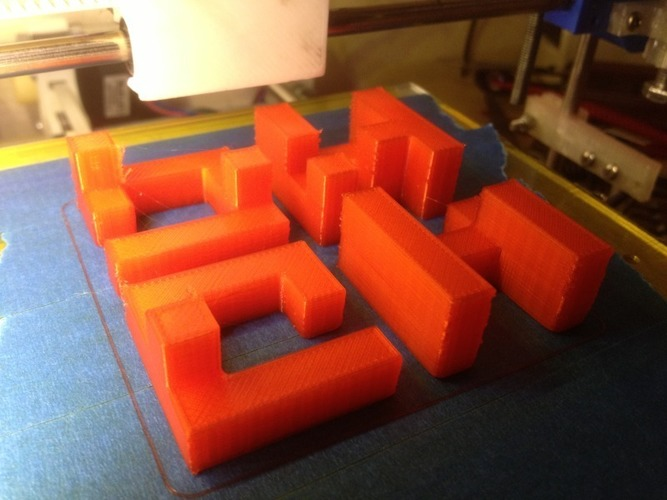 Printable Interlocking Puzzle #3 - Level 4 by Bram Cohen 3D Print 17165