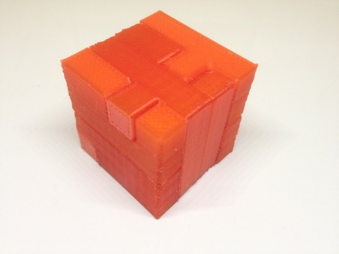 Printable Interlocking Puzzle #3 - Level 4 by Bram Cohen 3D Print 17166