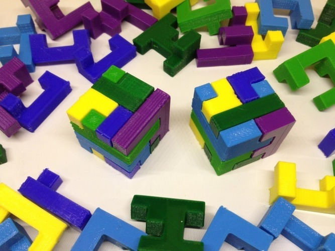 Printable Interlocking Puzzle #2 3D Print 17167