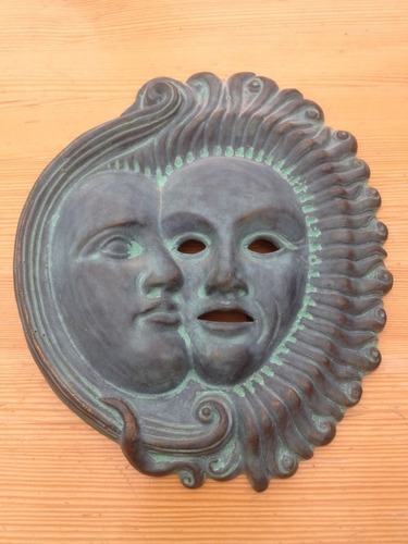 Sun Moon Mask ornament 3D Print 17174